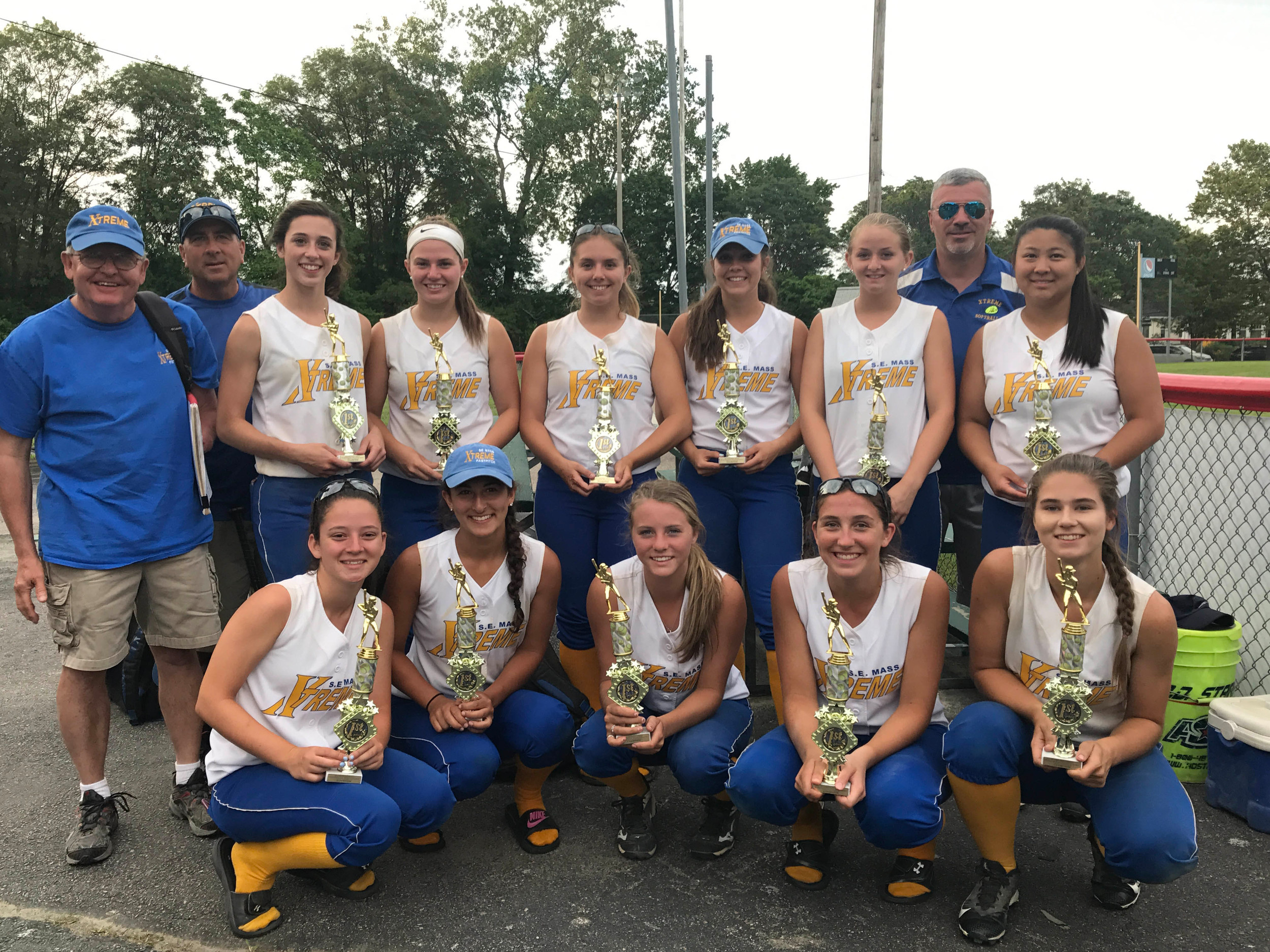 Front row:  Carissa Rego(Seekonk), Sadie Patterson(East Providence), Alexa White, Brianna Gendreau, Ashley Soares