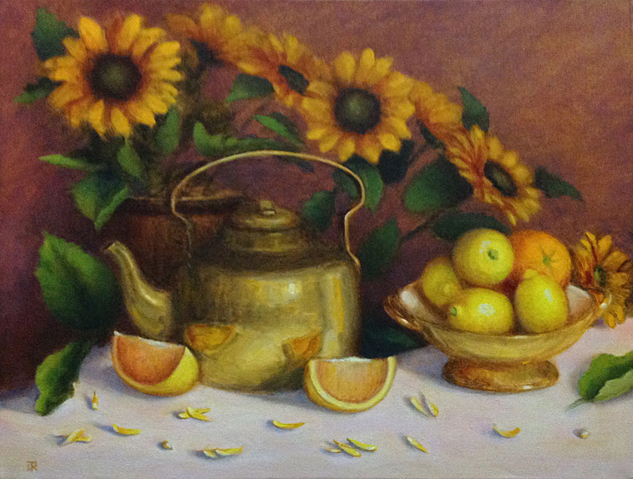 Teapot and Citruses