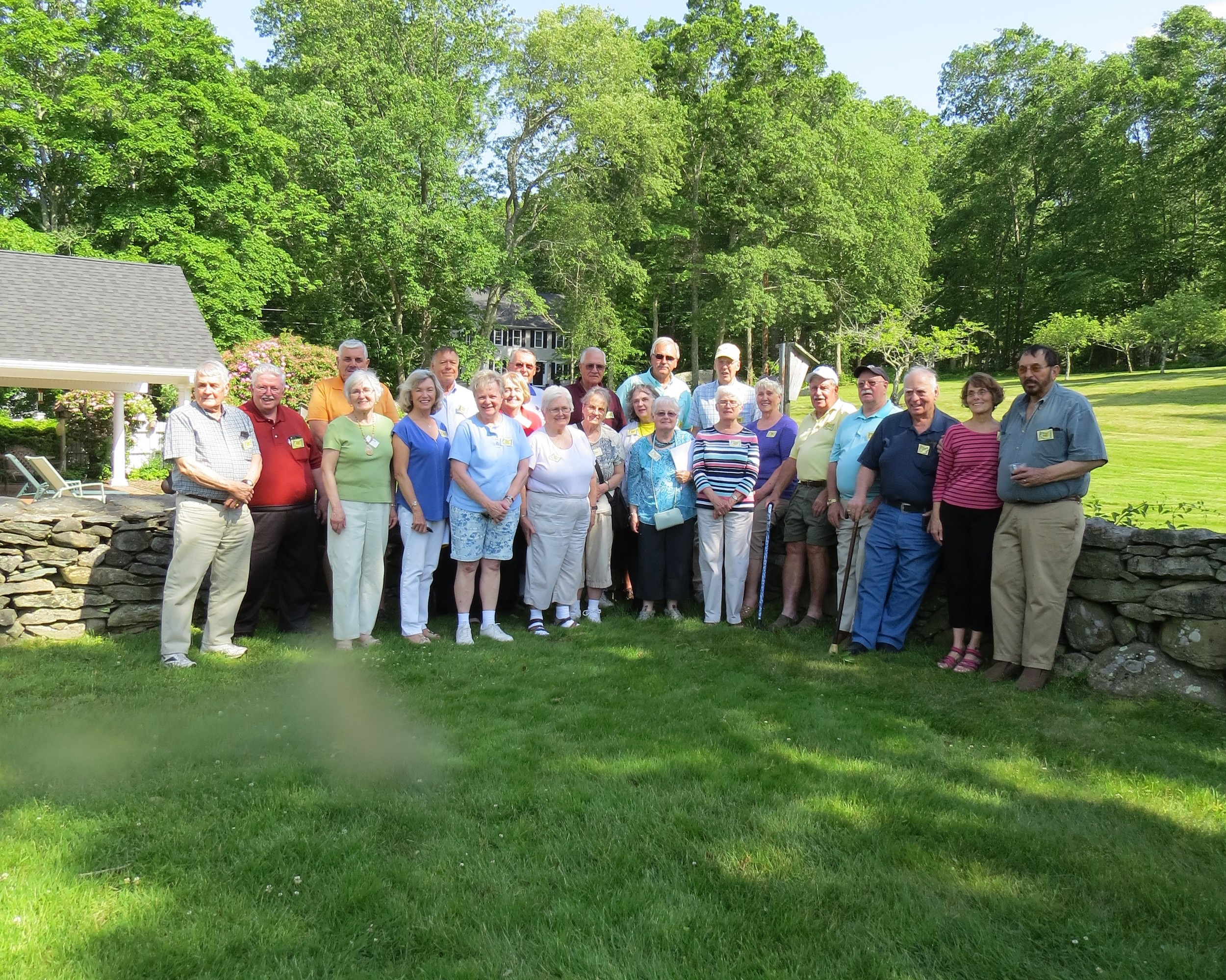 Dighton-Rehoboth High School First Falcons, class 1961, during their 56th reunion at the home of Class Treasurer Carl Stonstrom