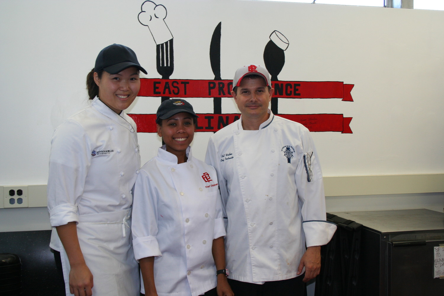 Left to right Chefs Natalie Kehlbeck, Monet Chizmar and Bill Walker.