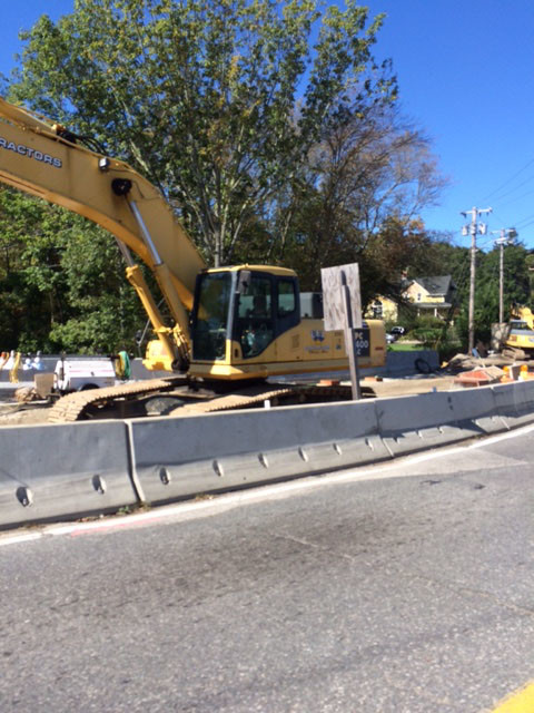 Work continues on realigning the intersection of Fall River Avenue and Arcade Avenue. Expected to be completed next Spring, the roadway improvements began in July 2015.