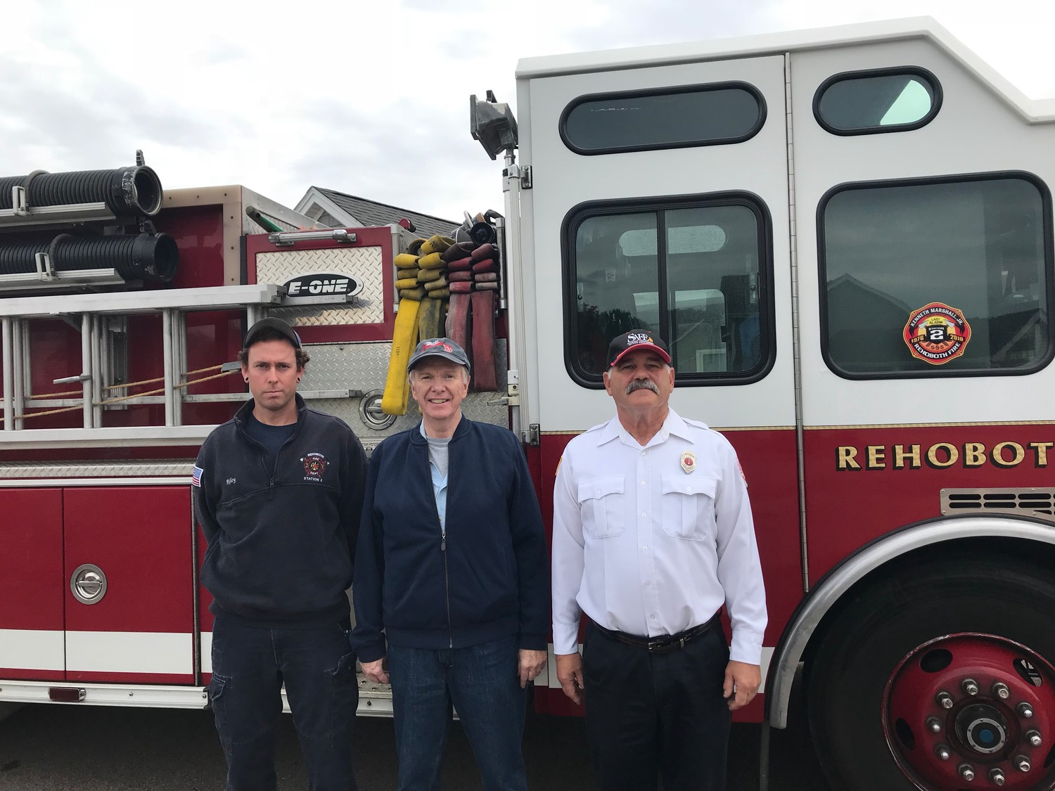 Firefighter Christopher Riley, Kevin Tierney and SAFE officer Lt. Larrivee (Not pictured Firefighter Anthony Lizotte)