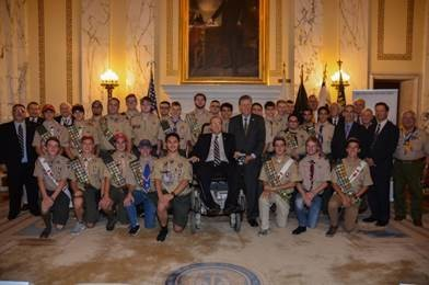 Local Eagle Scouts Honored by Lt. Gov. McKee, Congressmen Langevin at the Rhode Island State House