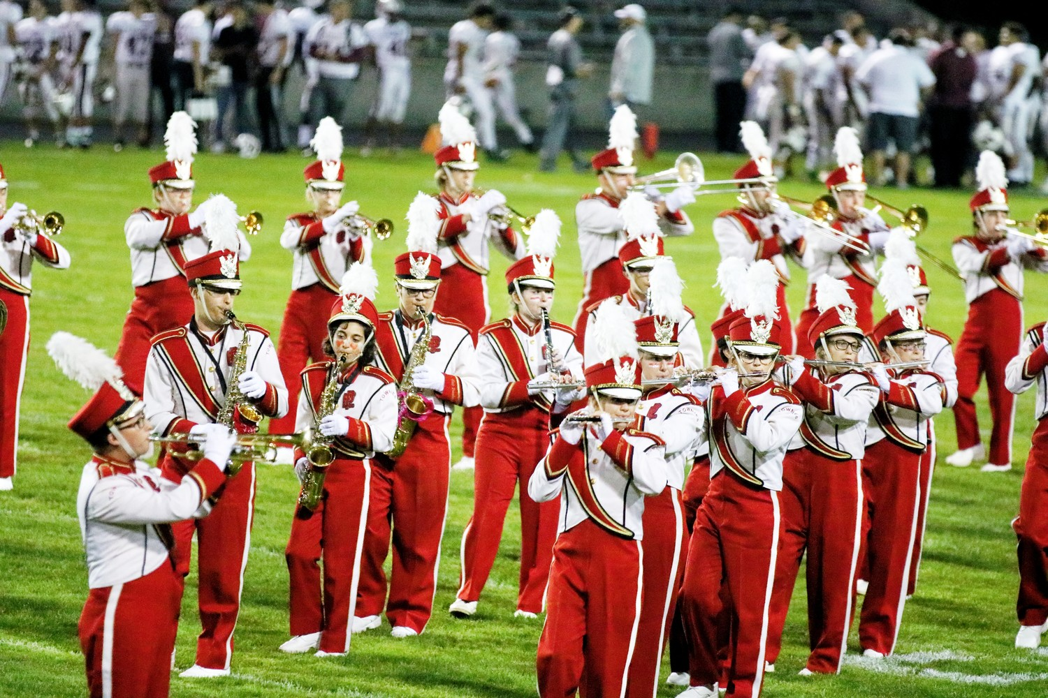 The Townie Marching Band entertaining at Friday night football games. Photo by Paul Tumidajski.
