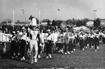 Townie Marching bands have entertained thousands at Thanksgiving Day games. Here is the 1970 version.