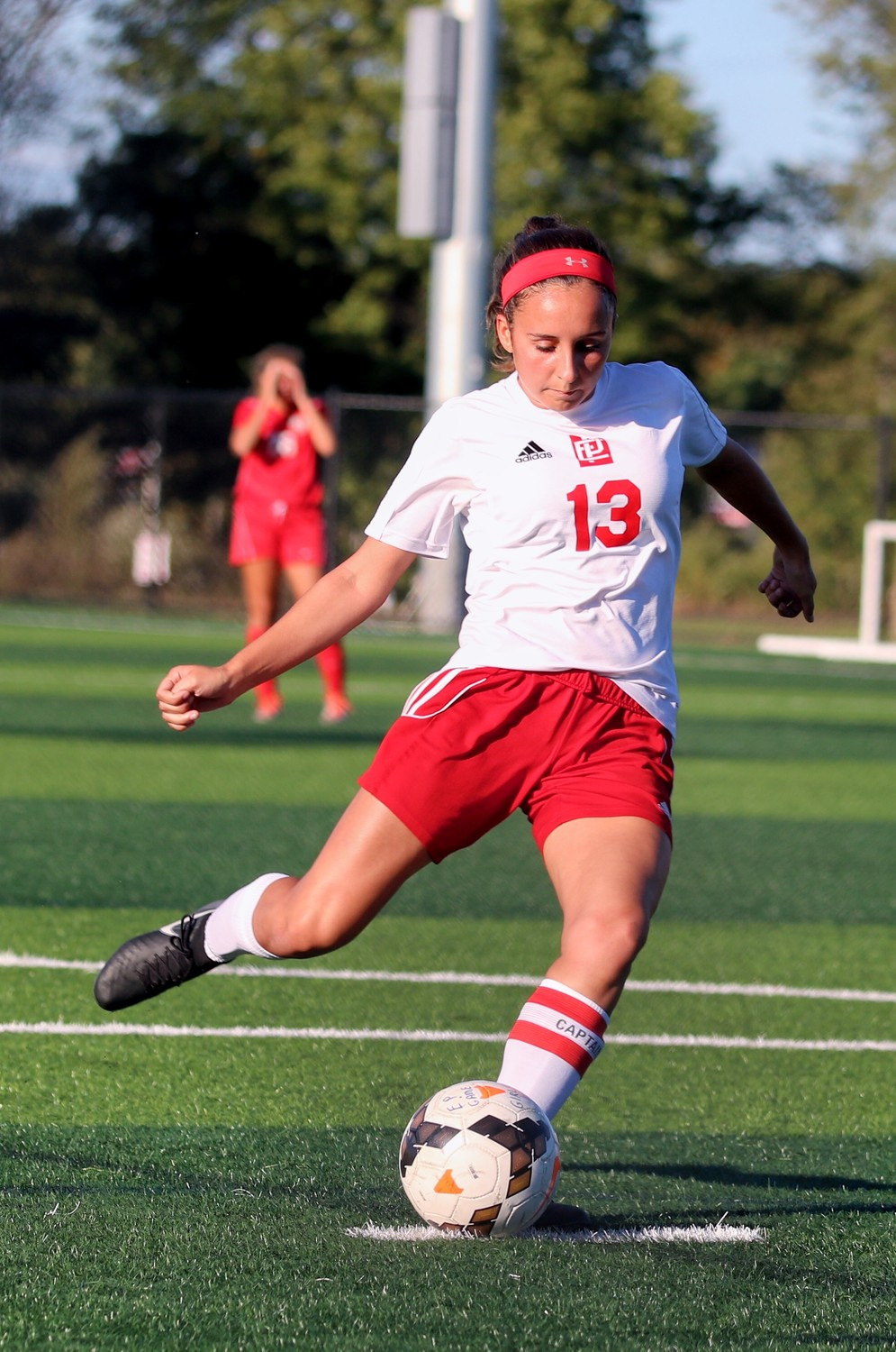 Hailey Placido of the undefeated Townies soccer team in action. Photo by Paul Tumidajski.