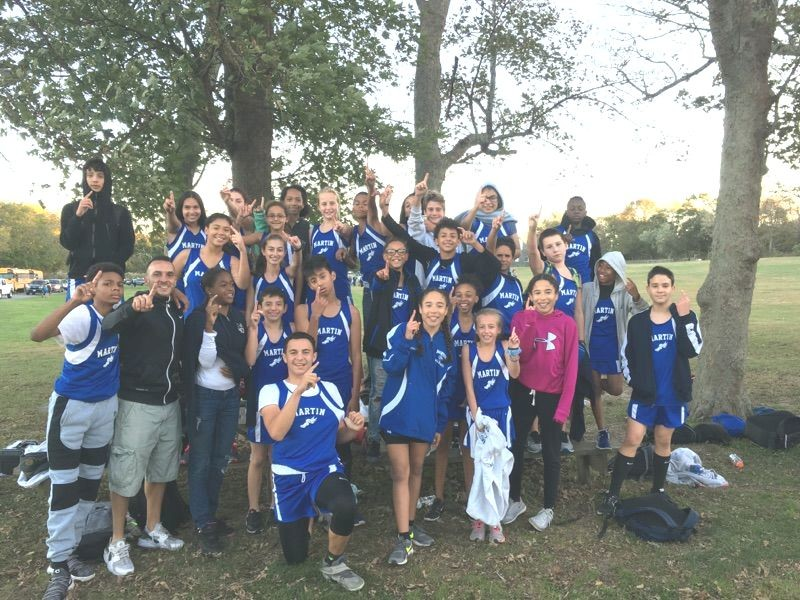 Martin Middle Cross Country Division Champions for 2017.