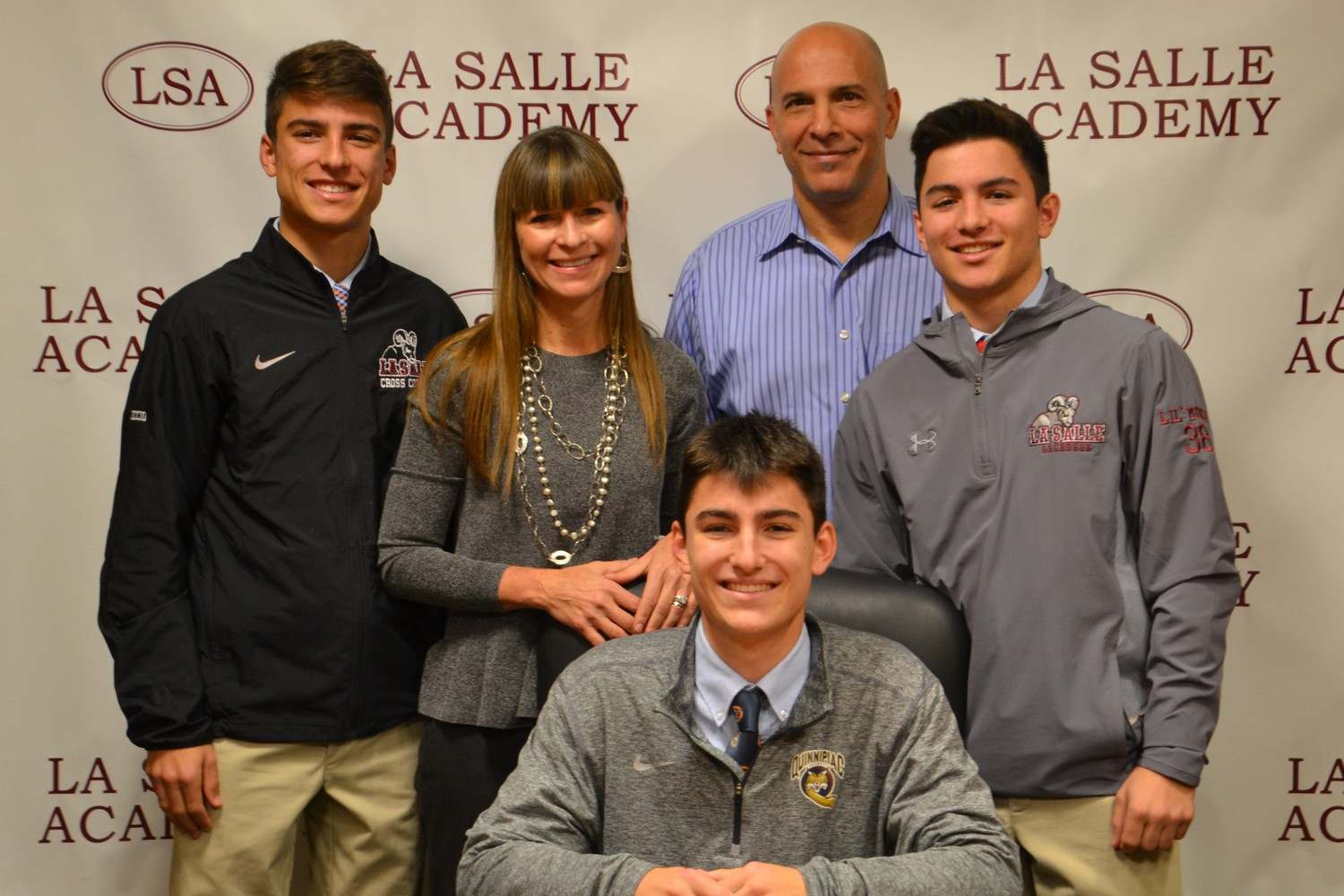 Pictured with Nicholas are his parents Kristen and Joseph DiMuccio and his brothers Maxwell and Zachary, LaSalle Academy Class of 2020.