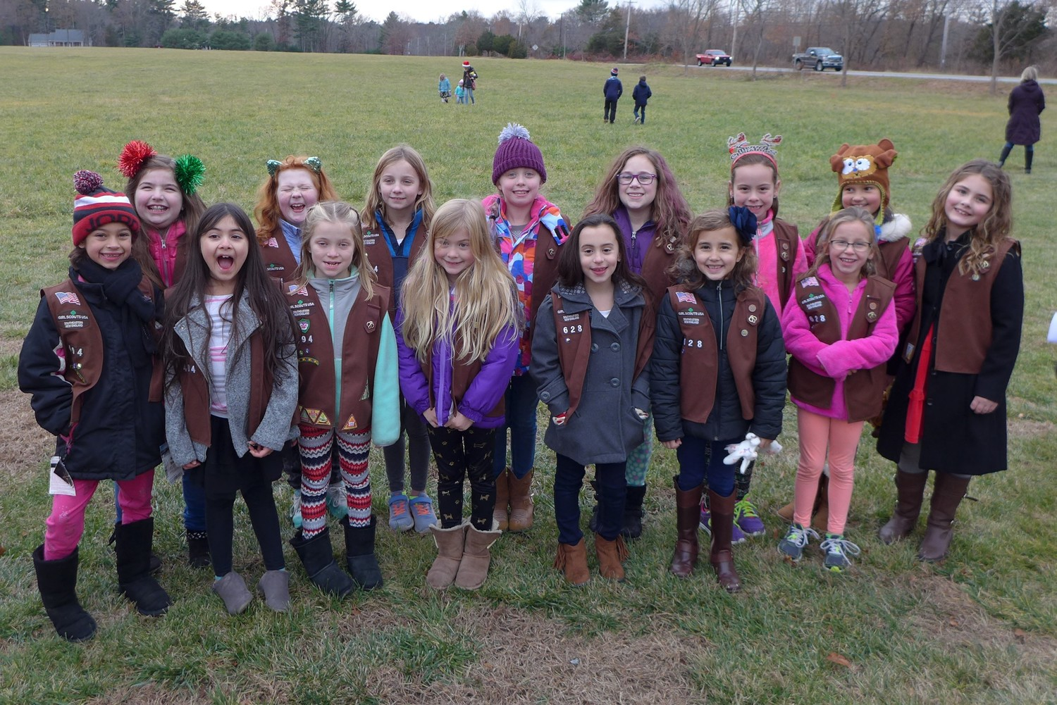 Rehoboth Girl Scout Troops 494 & 628 participate in Rehoboth Tree Lighting