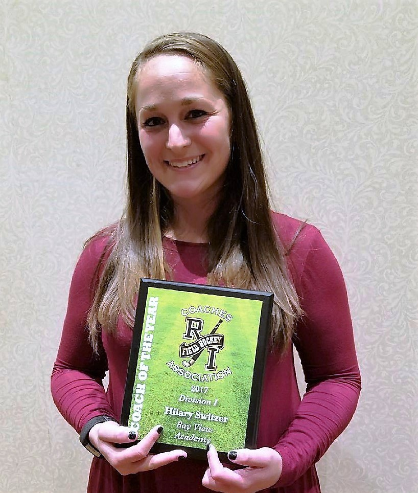 Bay View Coach Hillary Switzer RIFHCA Coach of the Year