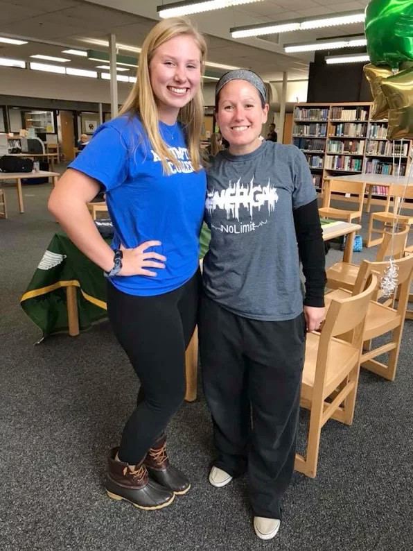 Allison Ainley with Heather Sargent, Athlete/softball Trainer
