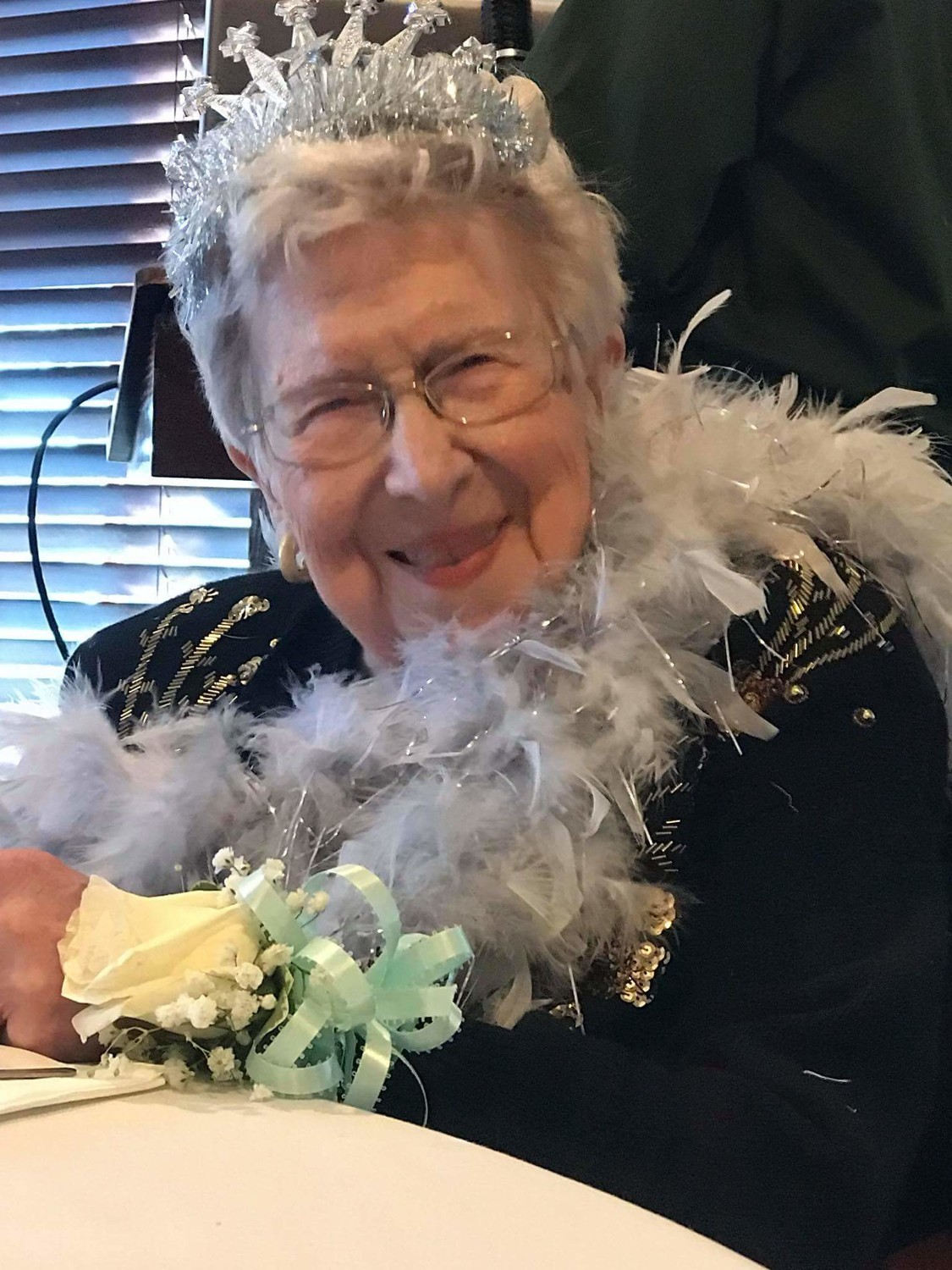 Stella Santos at her 100th birthday party at Davenports in East Providence.