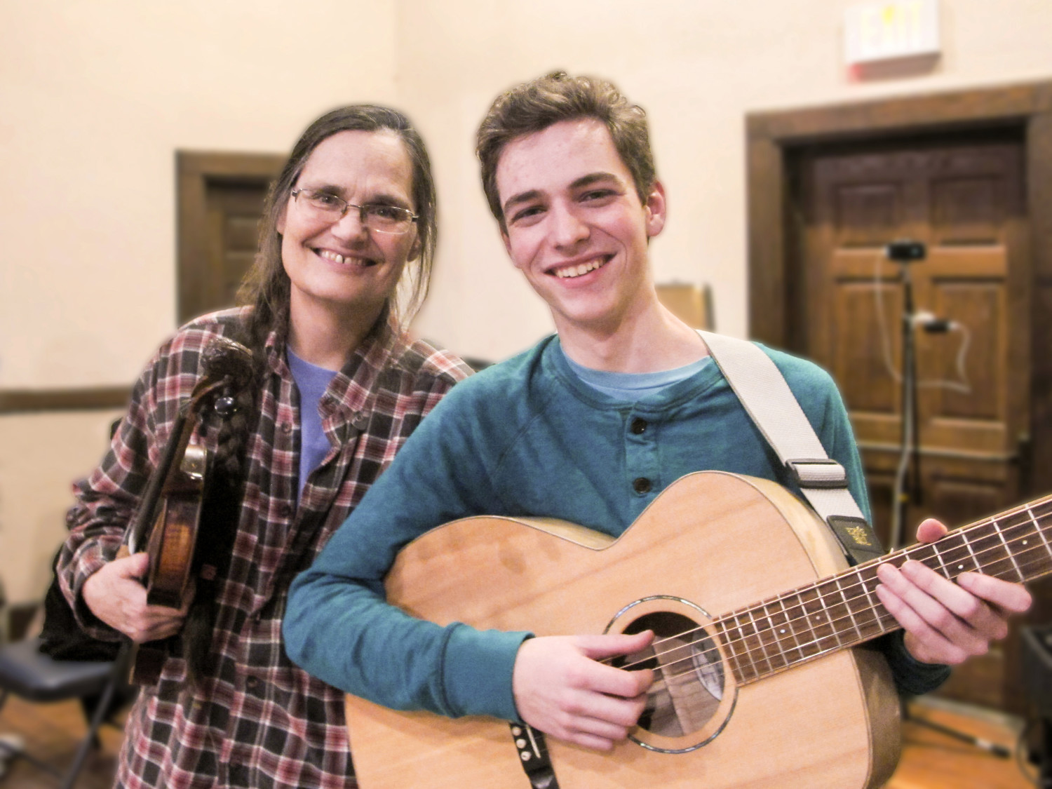 Amy Larkin and Benjamin Foss perform at the Rehoboth contra dance on Friday, January 12
