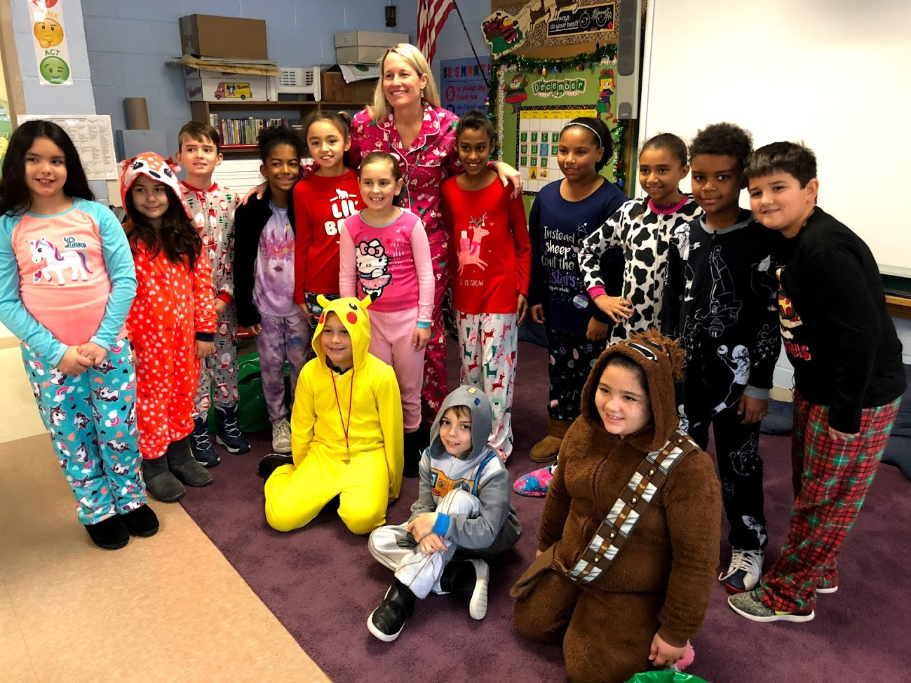4th grade representing PJ (Spirit Day) with PRIDE