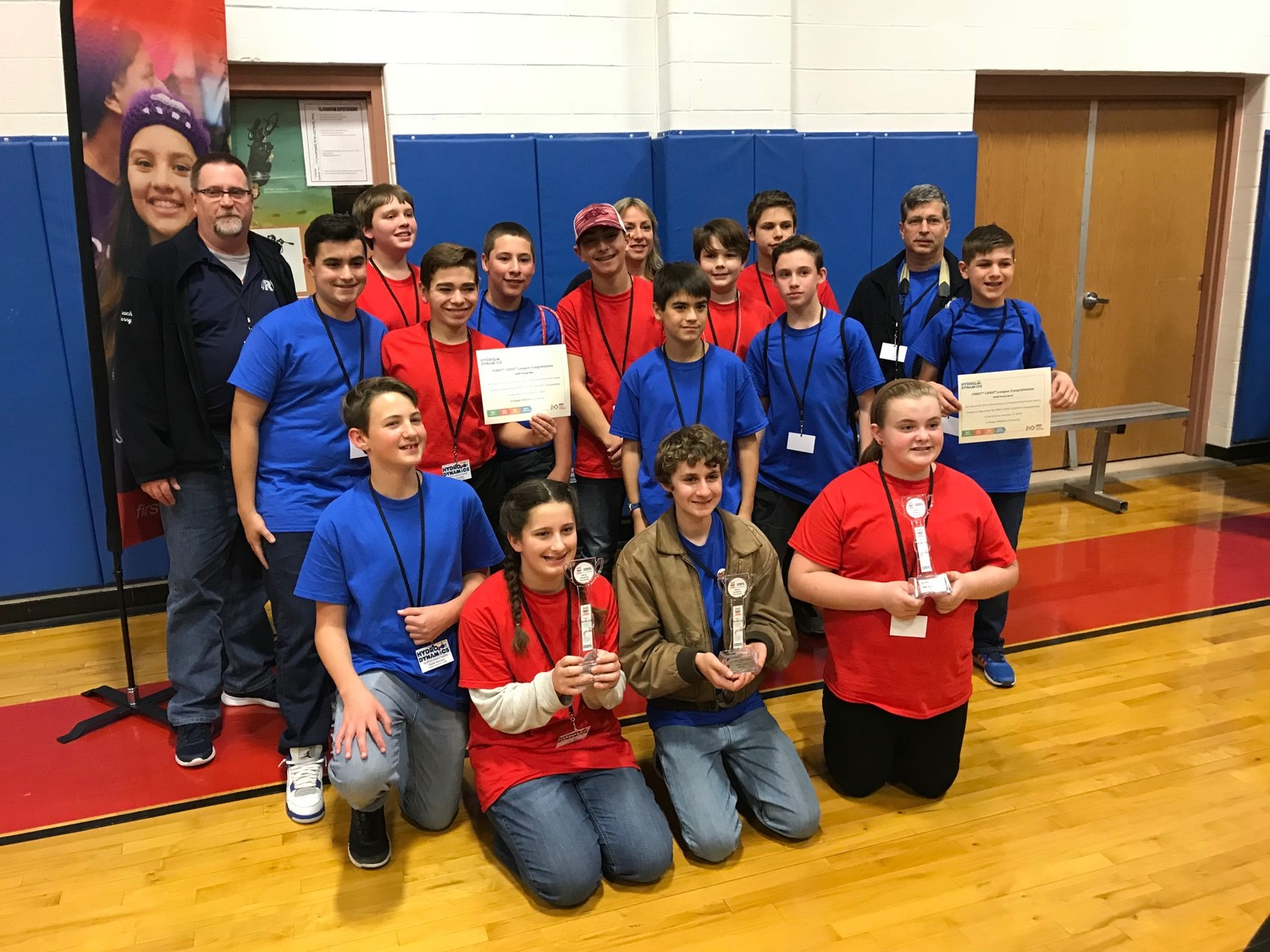 Beckwith Robotics Teams with their First and Second Place Awards