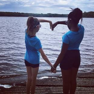 "12-year-old Fresh Air child Kadija of the Bronx has been best friends with her 12-year-old Fresh Air sister Jillian since 2014. Their favorite memories include roasting marshmallows over a campfire, swimming, fishing, and ""laughing really hard for no reason!"""