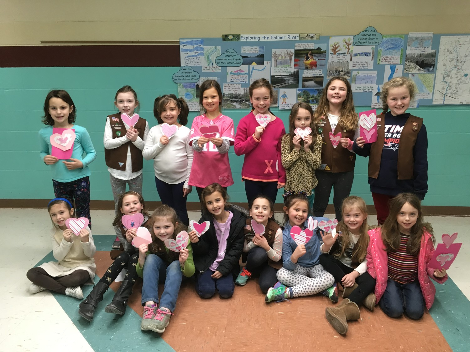 Rehoboth Girl Scout Brownie Troop 628 Made Heart Shaped Bookmarks