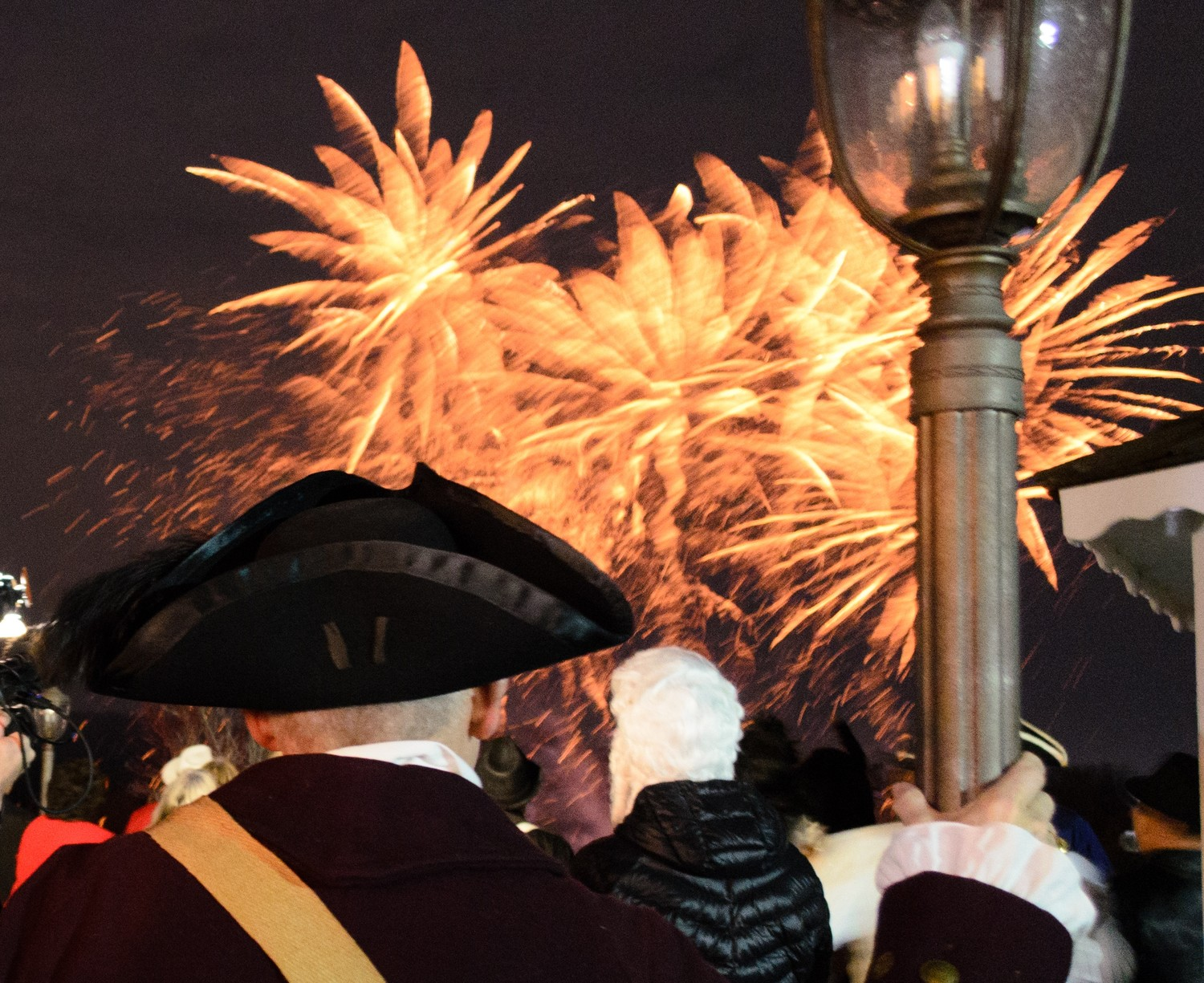 Fireworks at the 375th Anniversary Ball.