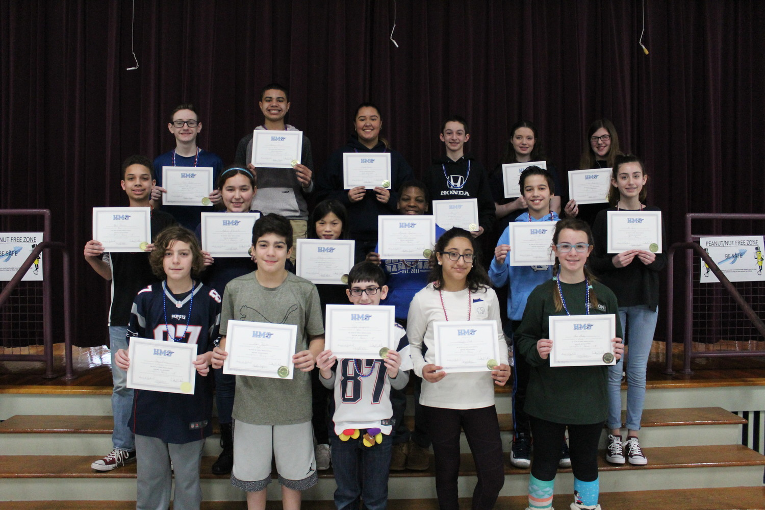 Hurley Middle School Stars of the Month for January