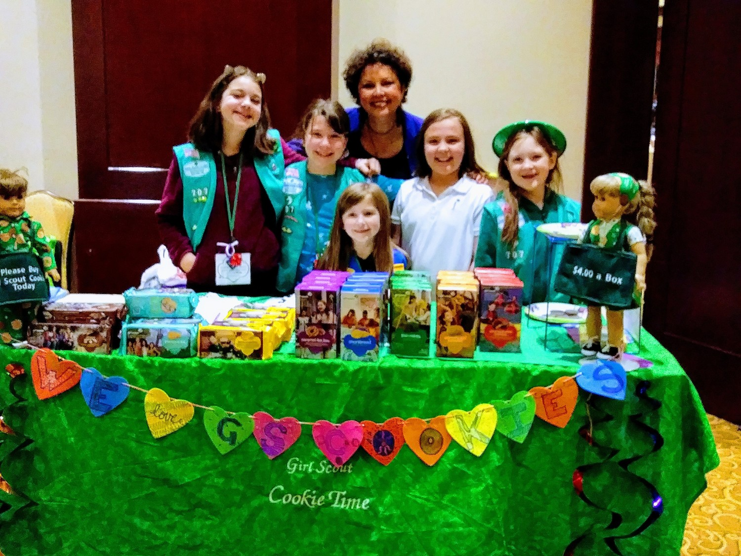 Seekonk Girl Scout Troop 707 with Barbara Morse Silva, NBC 10 News Anchor