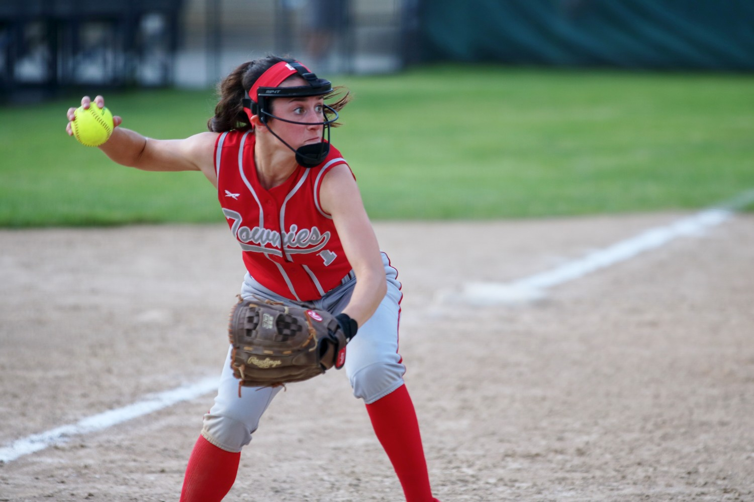 Townies Townies 3rd baseman Shelby Mello throwing to first in a softball playoff game.  File Photo by Paul Tumidajski.