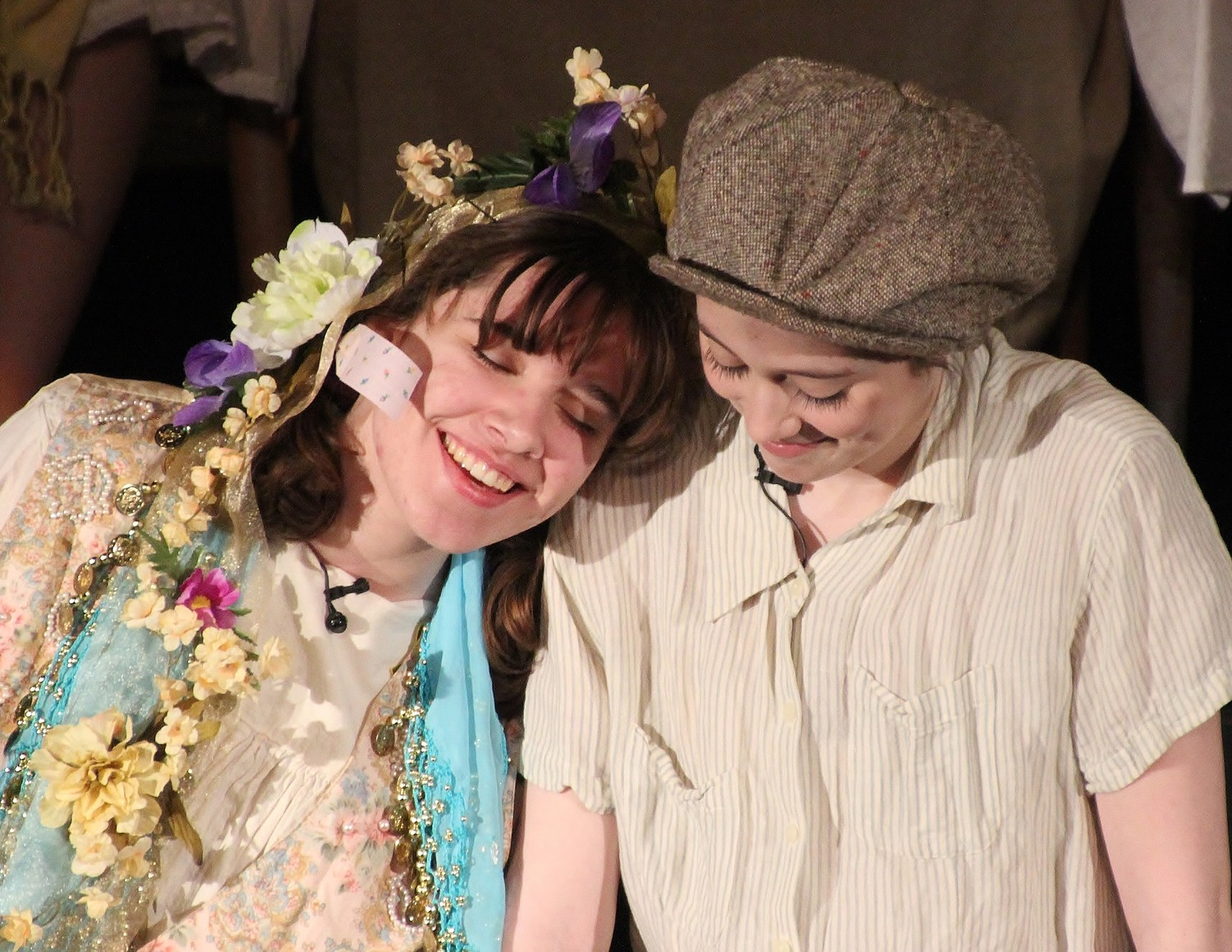 Abby Dawson of Riverside as Sudha the Flower Girl, and Grace Farrow as Amal.