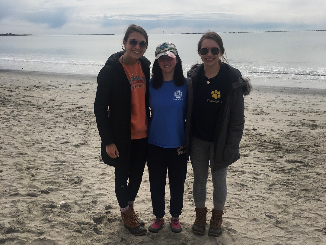 Members of the Bay View Plunge Team pose for a picture prior to the plunge