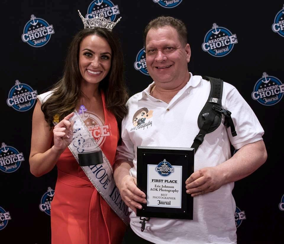 Eric Johnson of AOK Photography with Miss Rhode Island