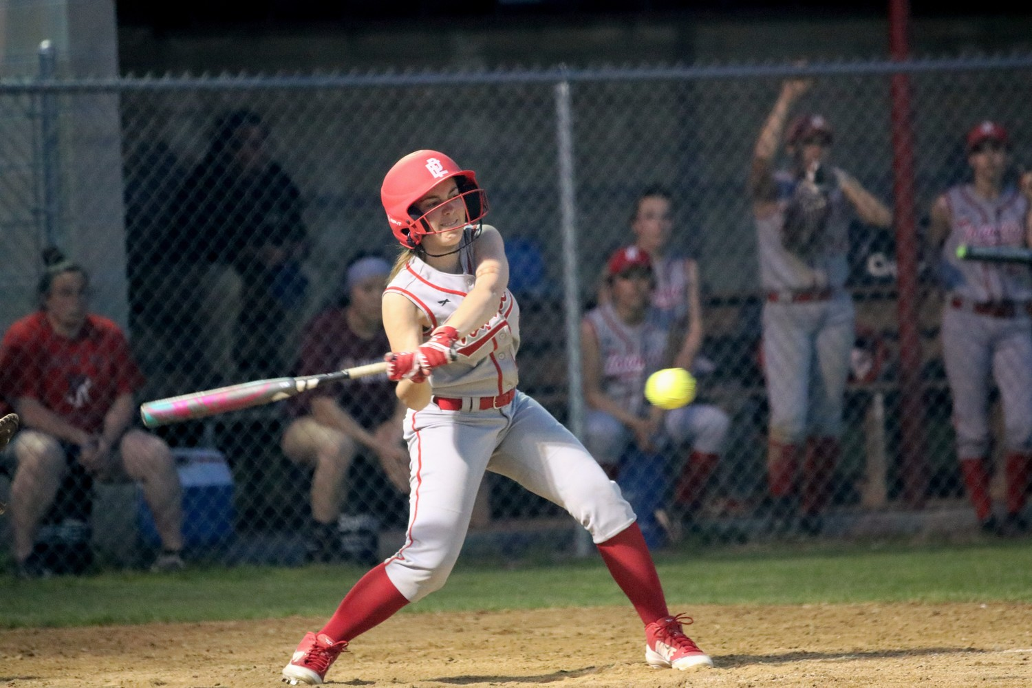 Amaya Dacier at bat for the Townies in recent game vs Woonsocket