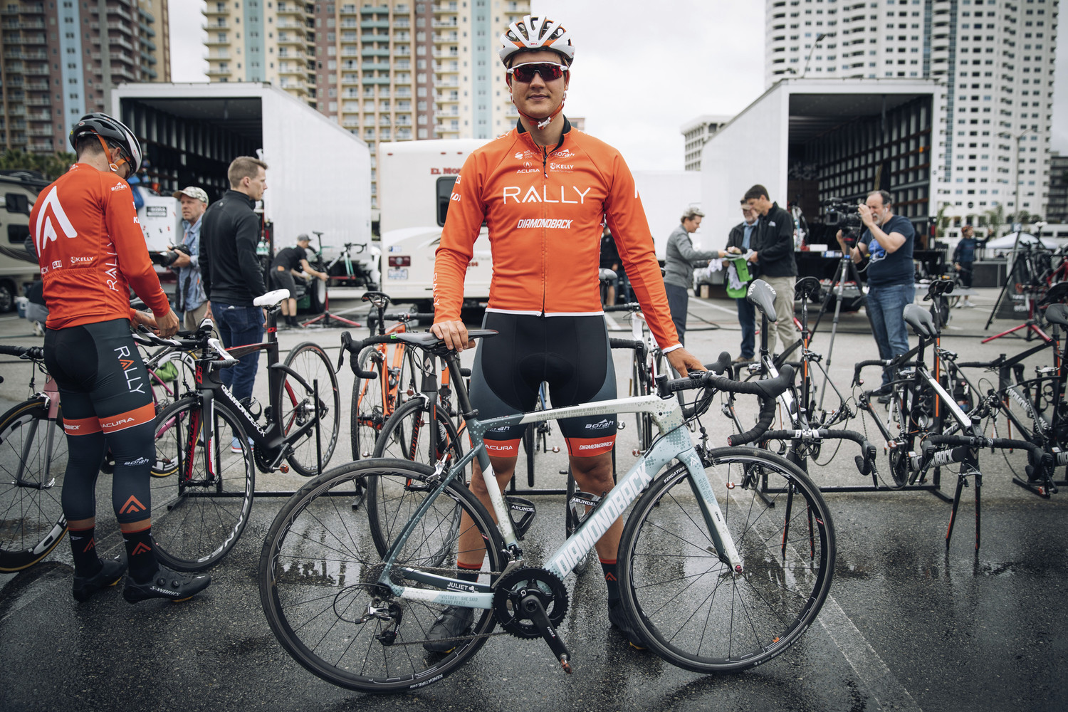 Pro Cyclist de Vos with Juliet's Inspired Bike