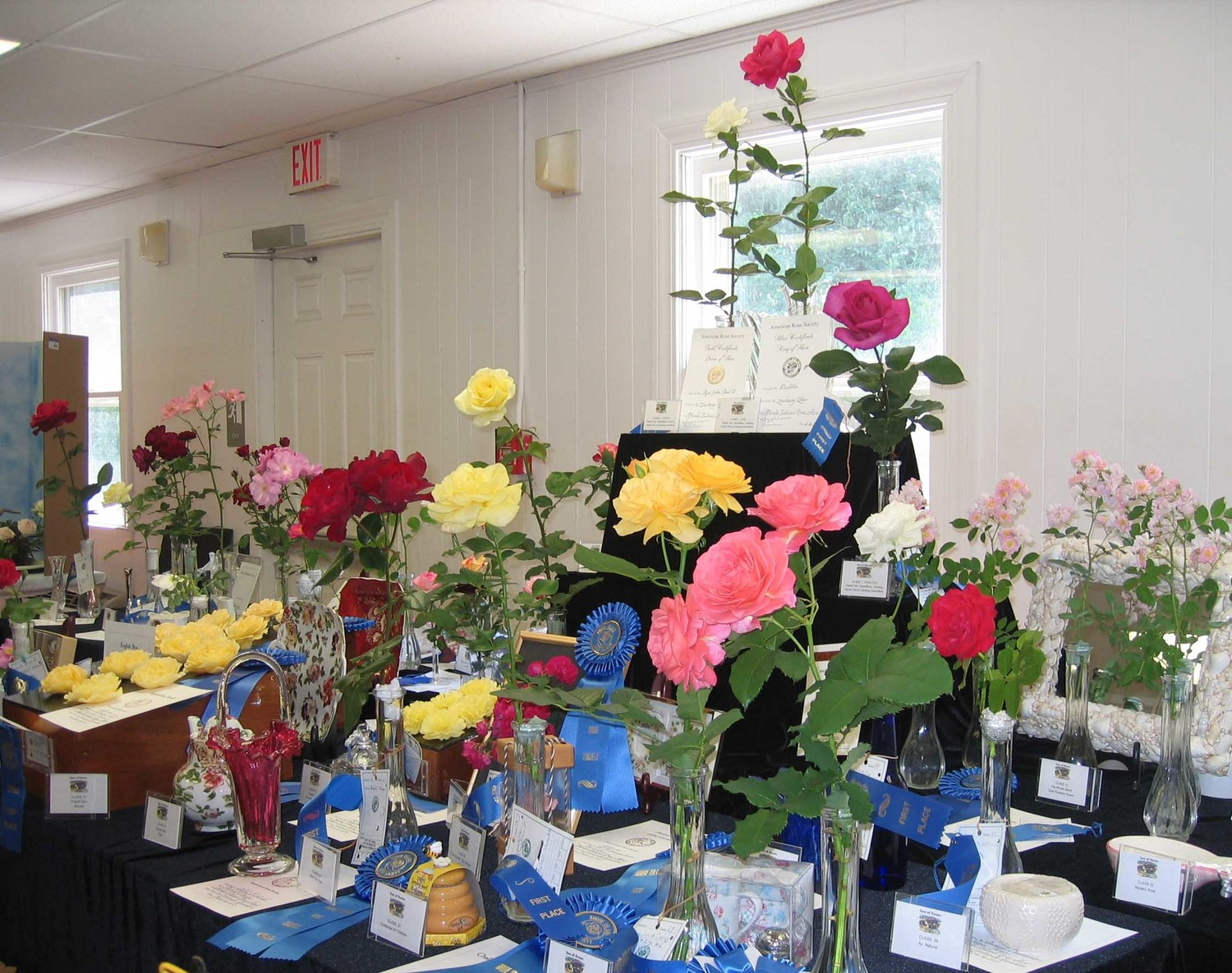 Rose Show Awards Table
