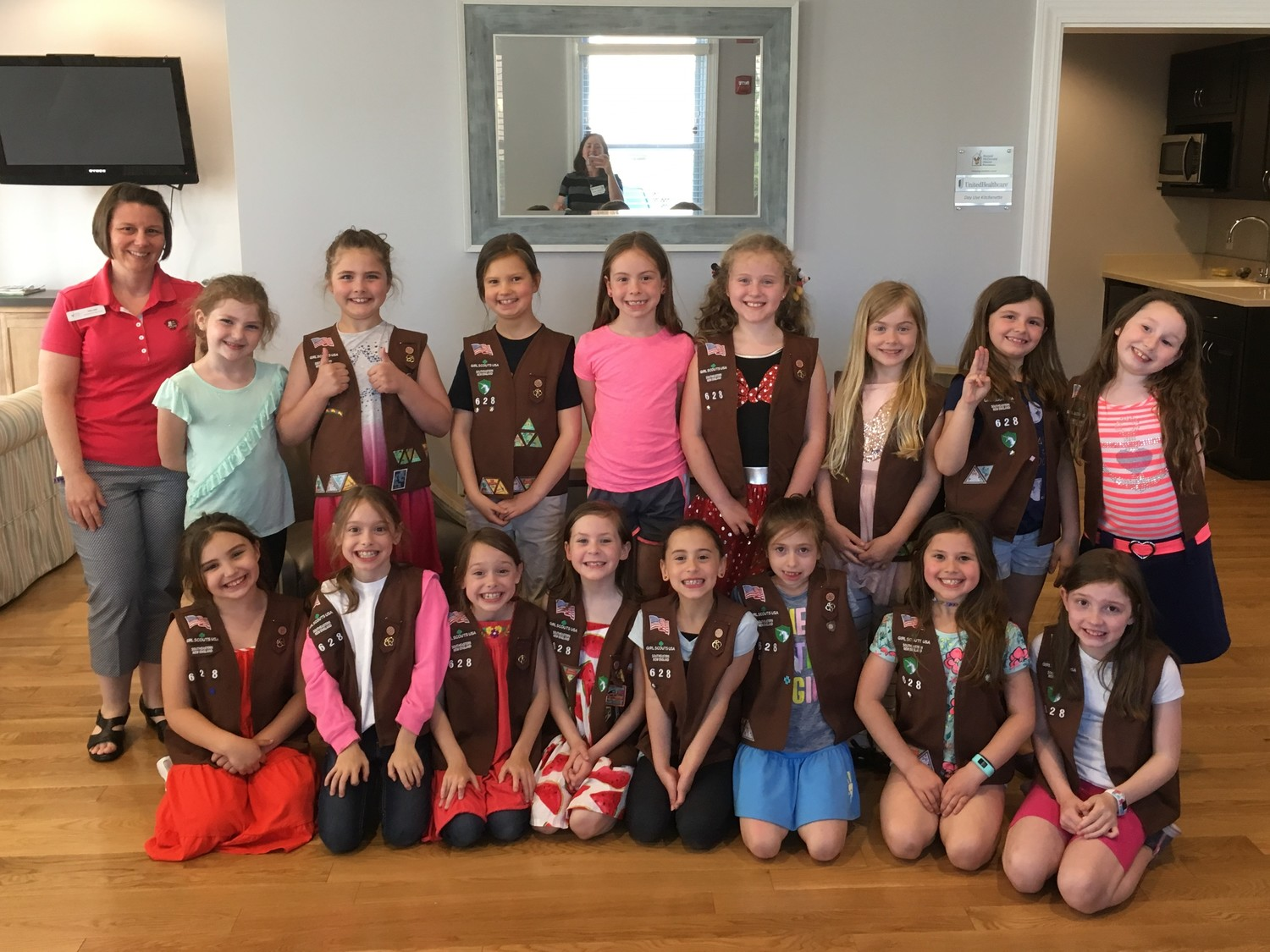 Rehoboth Girl Scout Troop 628 visits Ronald McDonald House
