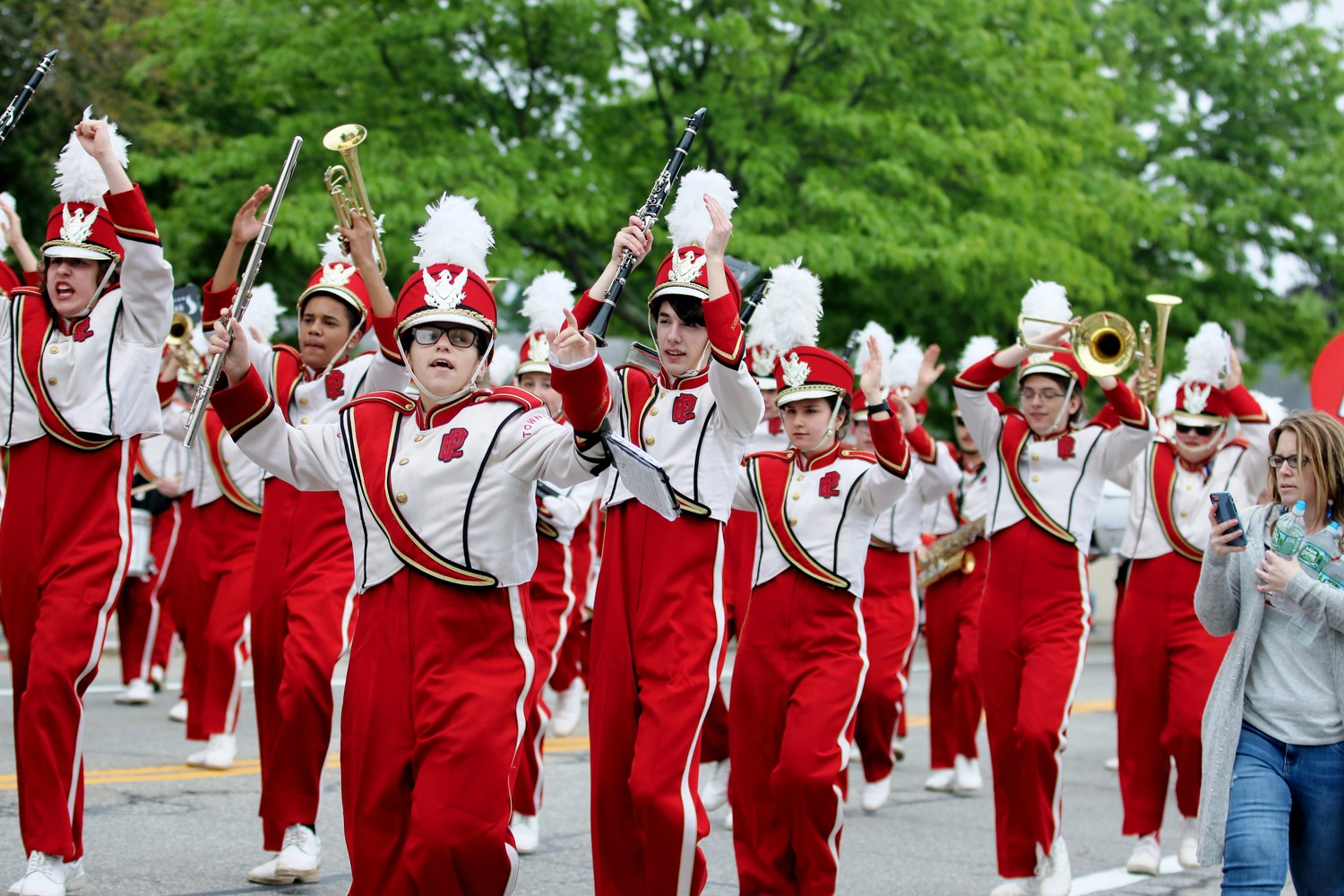 We are the Townies Marching Band.  Reporter Photo by Paul Tumidajski.