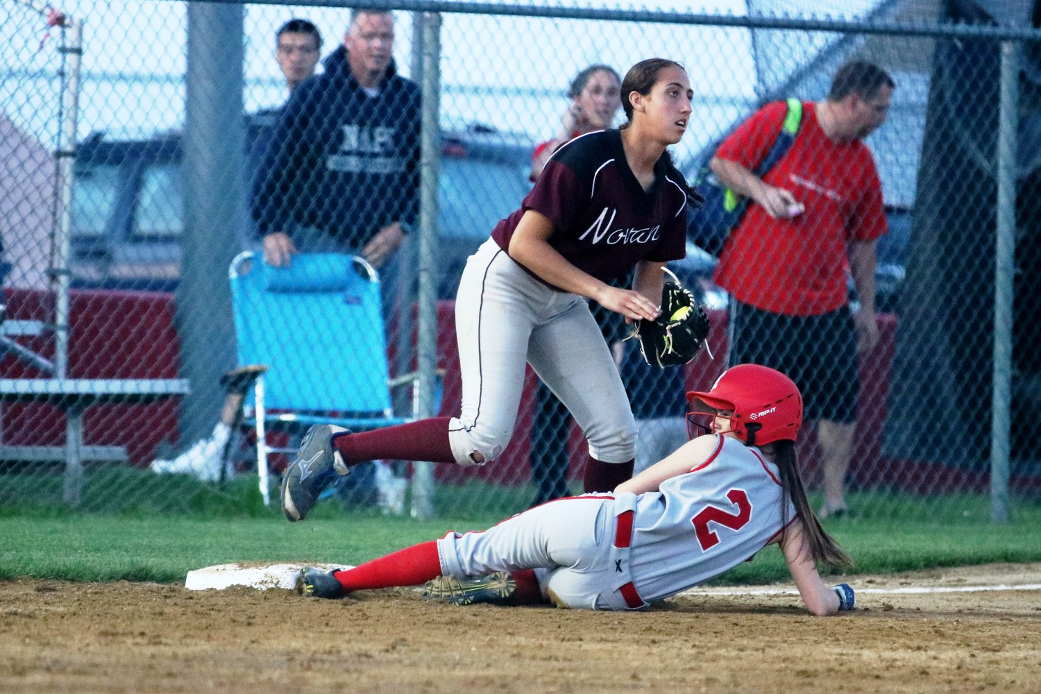 Jessica Costello slides into third base for EP.