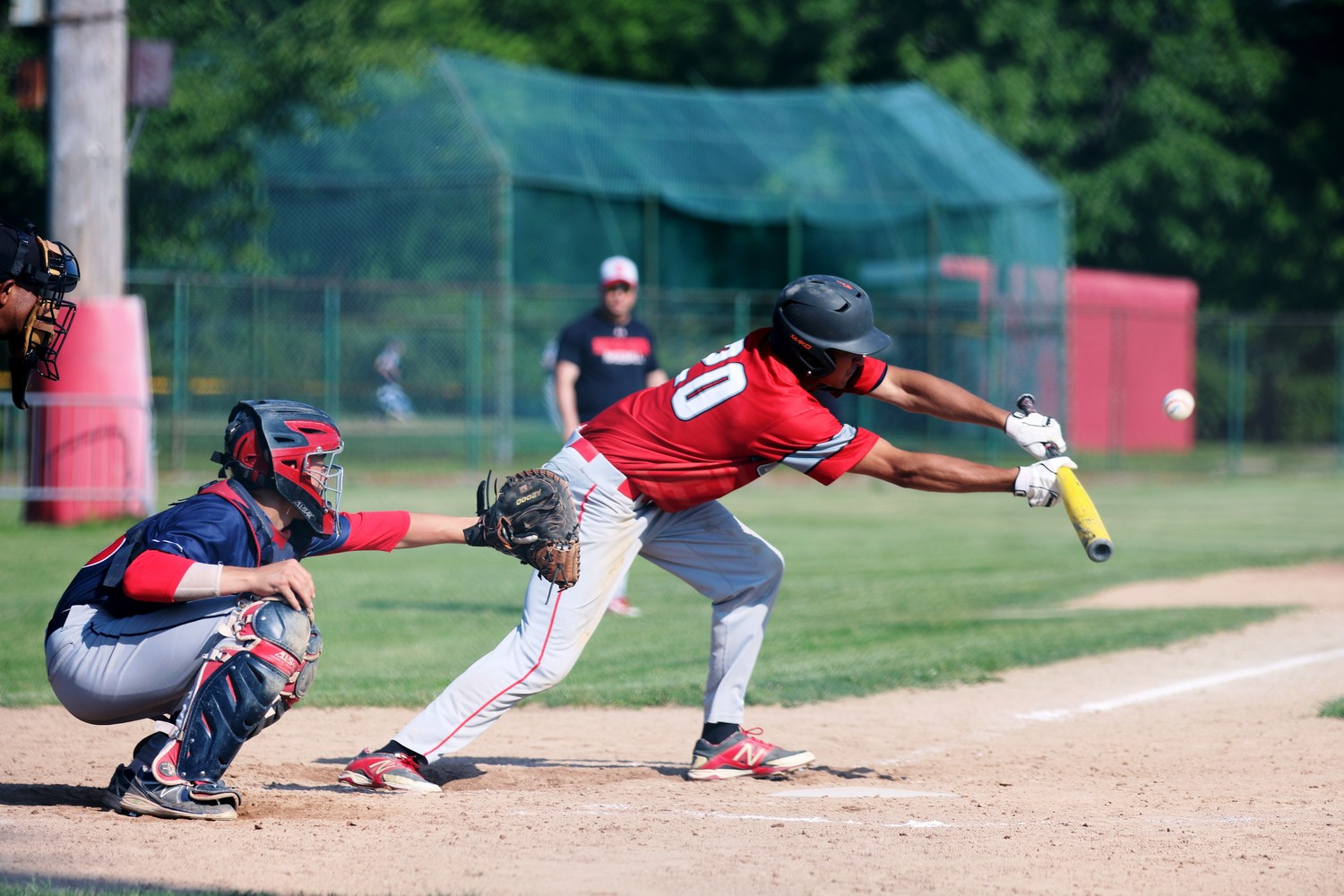 Laying down a bunt for EP in playoff action.