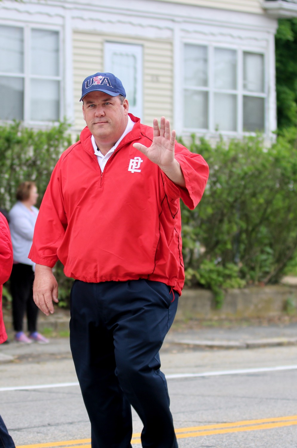 State Representative and EP Athletic Director, Gregg Amore marching in Memorial Day Parade.