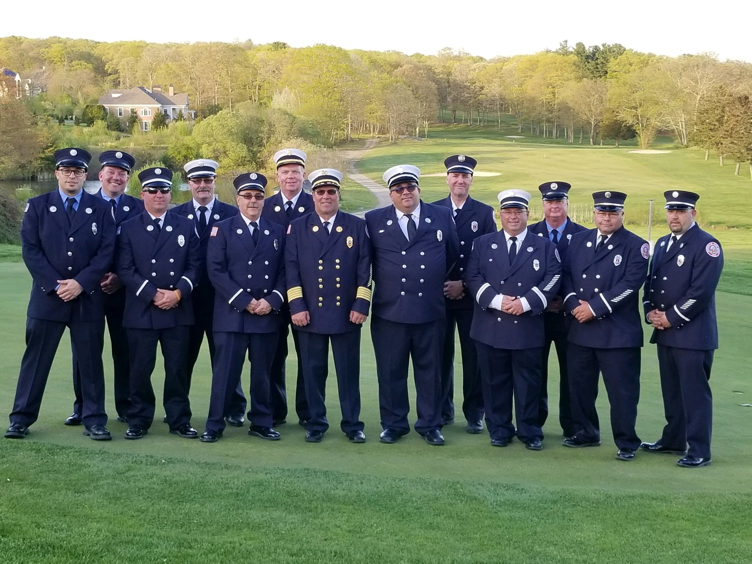 Firemen who attended Lions Recognition Night