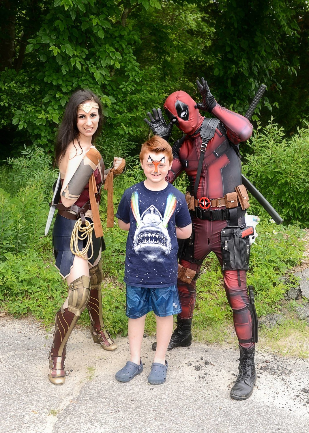 'Wonder Woman, Landon, Deadpool'
