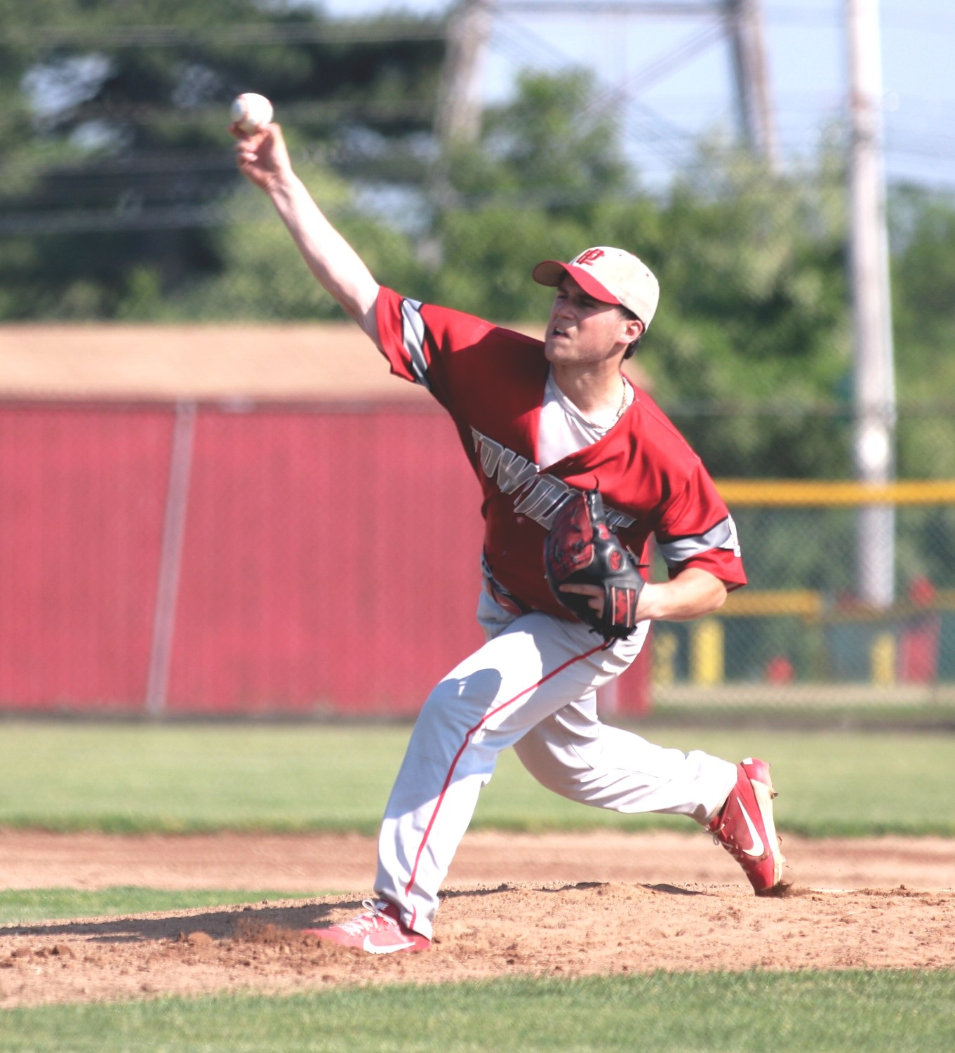 All-Stater Seth Daly pitches two hitter in playoff win for EP.  Photo by Paul Tumidajski.