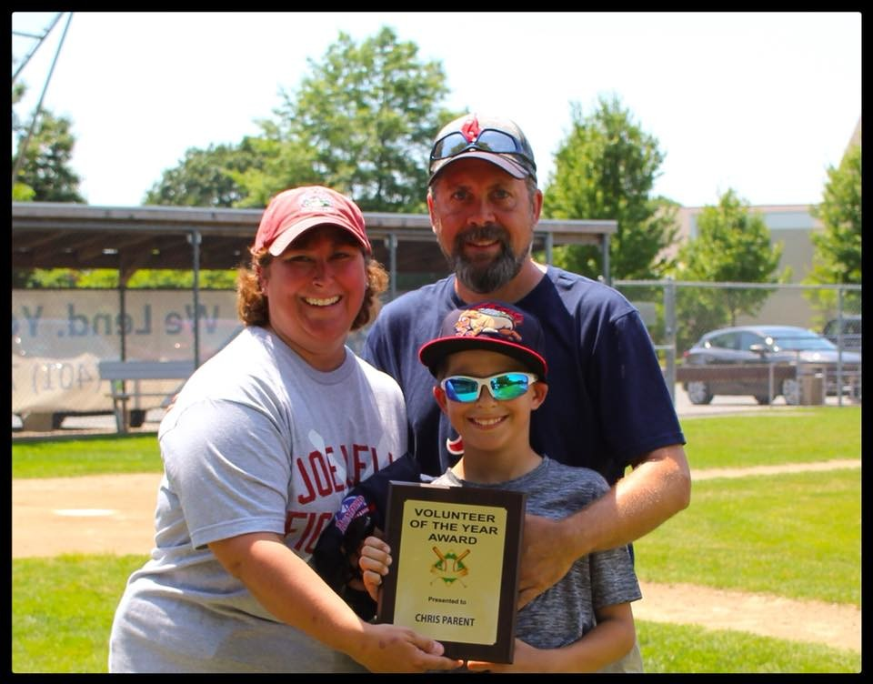 Chris Parent is Rumford Little League volunteer of the year.