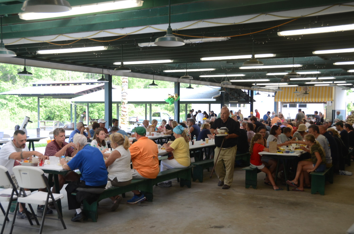 The Rehoboth community enjoys dinner at the 375th Clambake at Francis Farm Photo courtesy of Kevin Hebert.