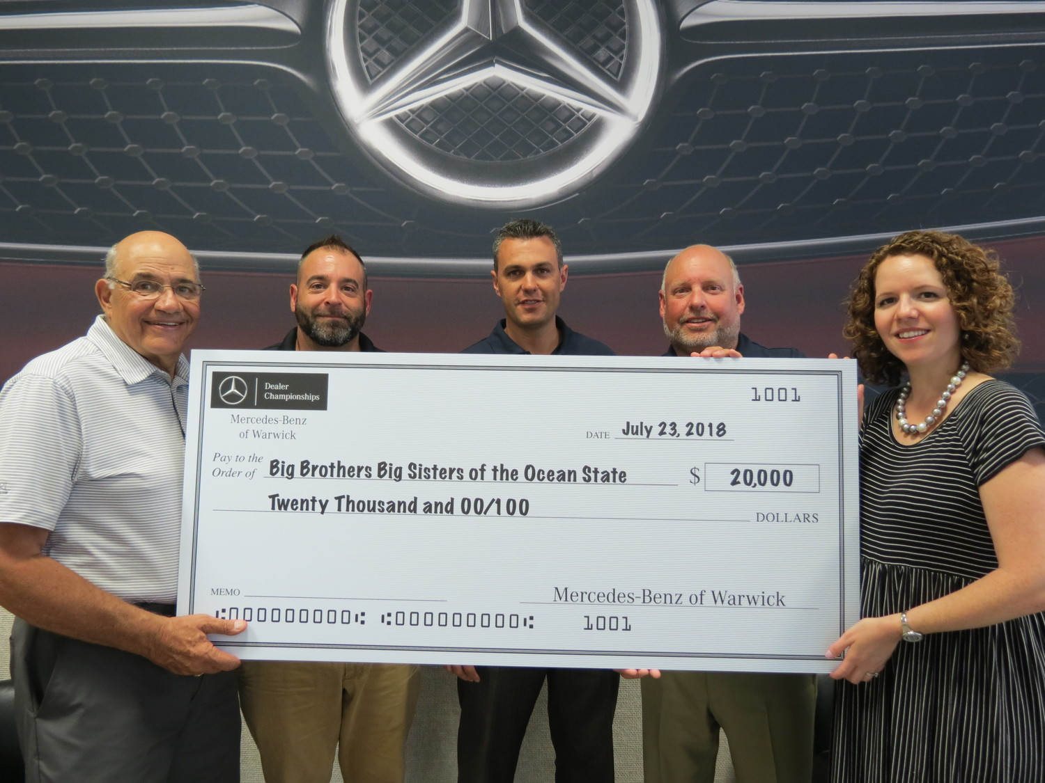 Mercedes Of Warwick >> 20 000 Raised For Bbbsos From 2018 Mercedes Benz Dealer
