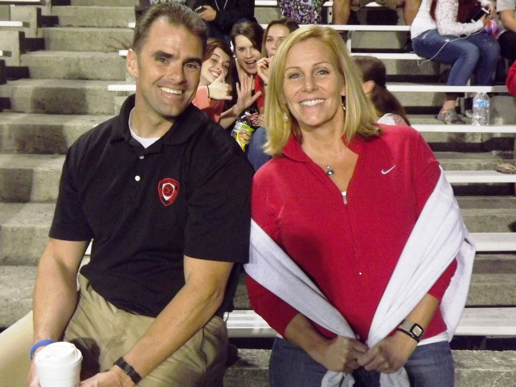 EPHS School Resource Officer Doug Borden & EPHS Principal Shani Wallace at EP football game.  Reporter file photo by Bob Rodericks