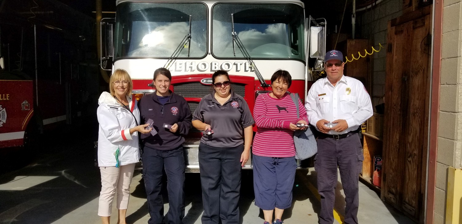 Rehoboth Fire Department:  Left to Right Nancy Brown, Jessica Seinkemp, Tori Sigman, Brenda Saben, Chief Frank Baressi