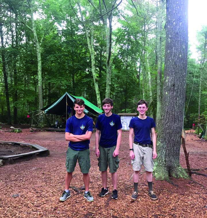 Robert, Casey and Kenny enjoyed their last year at Yawgoog