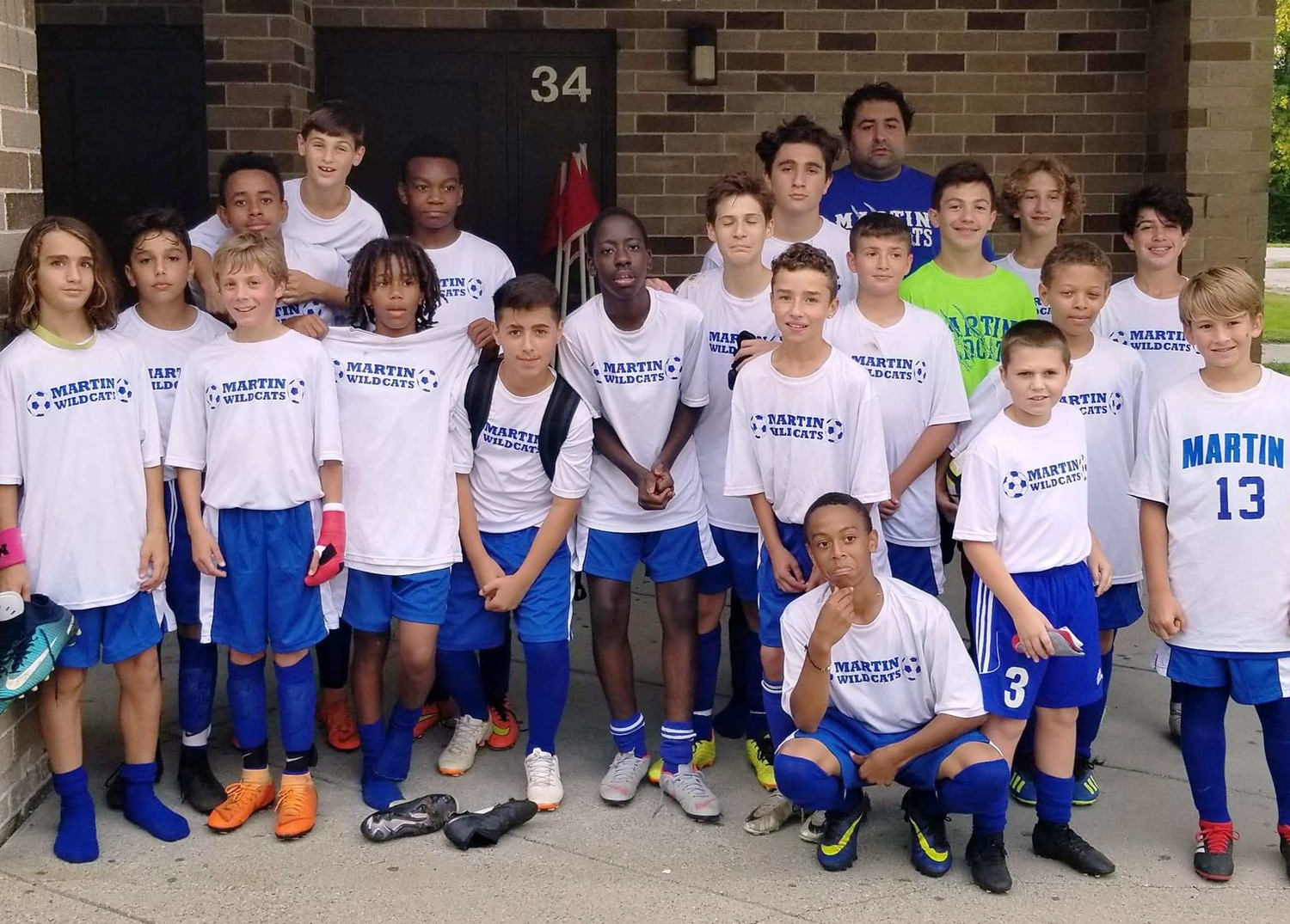 Martin Middle School Soccer Team