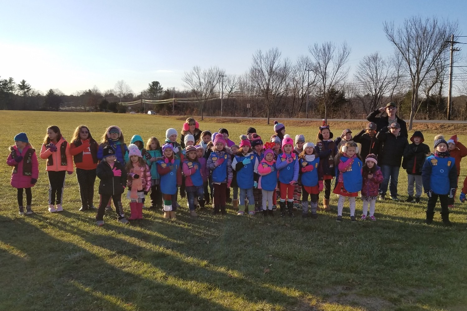 Rehoboth Scouts attend Tree Lighting