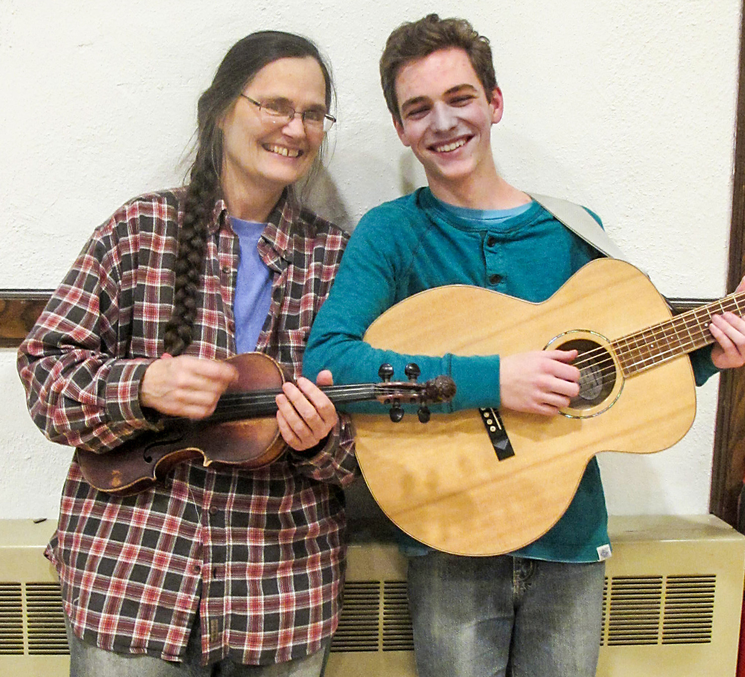 Amy Larkin and Benjamin Foss perform at the Rehoboth contra dance on Friday, February 22