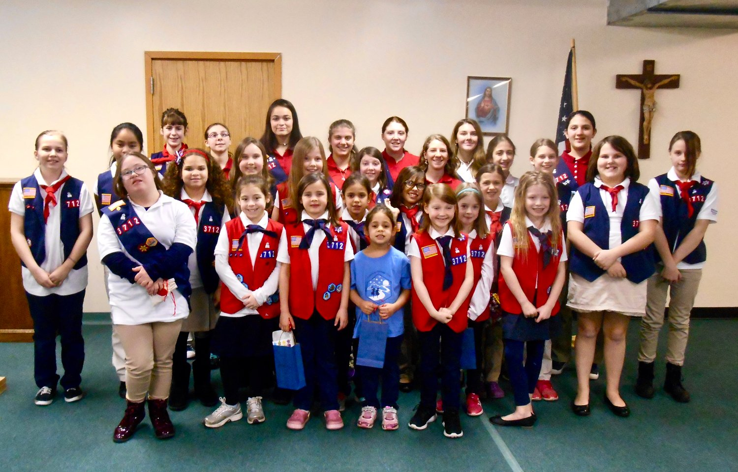 American Heritage Girls troop MA3712 celebrate Court of Awards Ceremony