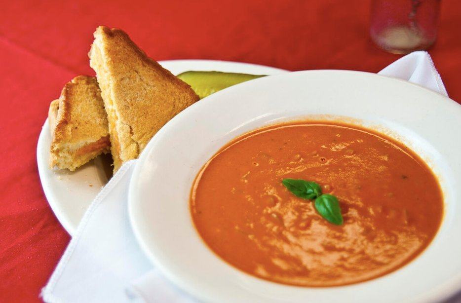 Grilled cheese with tomato soup.